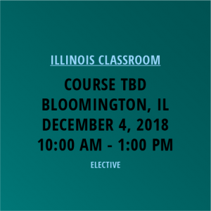 Novalis Learning | Course TBD | Bloomington, IL | December 4, 2018 from 10am-1pm