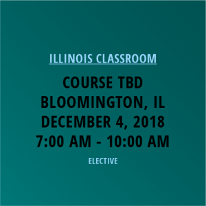 Novalis Learning | Course TBD | Bloomington, IL | December 4, 2018 from 7am-10am