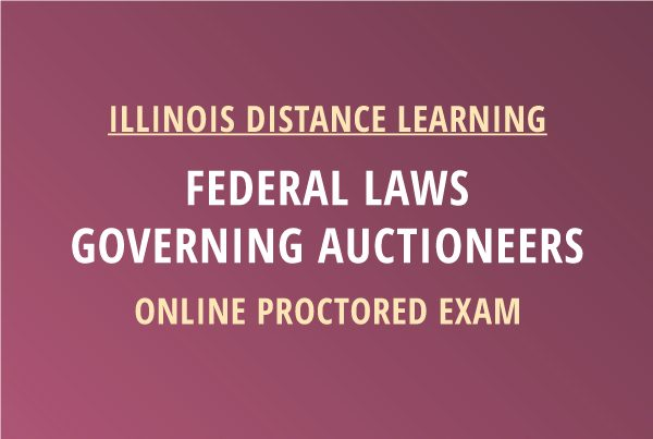 Novalis Learning | Federal Laws Governing Auctioneers Proctored Exam