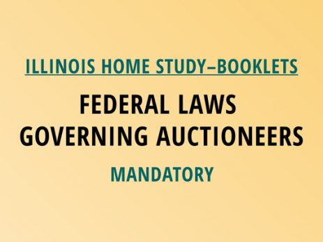 Novalis Illinois Home Study Federal Laws Governing Auctioneers - Mandatory Class