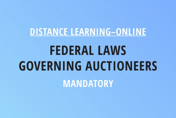 Novalis Illinois Distance Learning Online Federal Laws Governing Auctioneers – Mandatory Class
