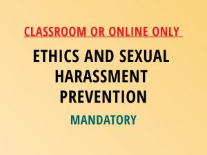 Novalis Home Study | Ethics and Sexual Harassment Prevention Training